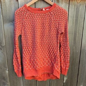 Moth Anthropologie Orange Long Sleeve Sweater Top